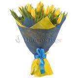 Букет из 33 Желтых Тюльпанов