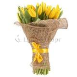 Букет из 51 Желтых Тюльпанов